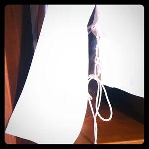 From Paris France Zara Bell Sleeves & Side Tie Top